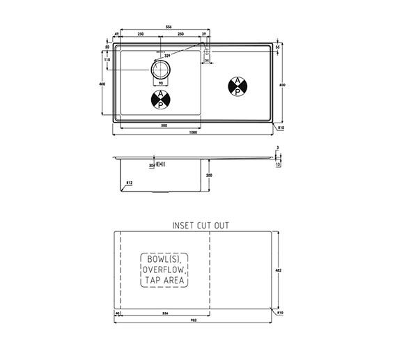 Technical drawing QS-V39195 / AW5027