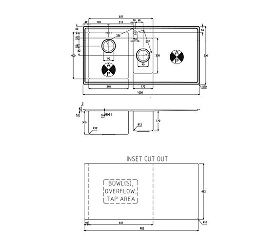 Technical drawing QS-V39197 / AW5031
