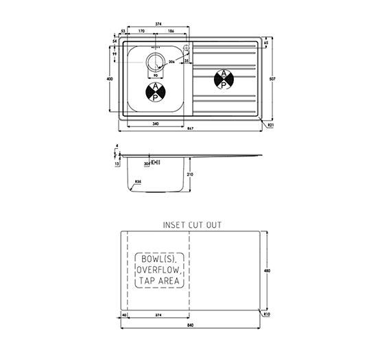 Technical drawing QS-V39198 / AW5037