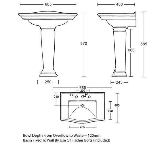 Technical drawing QS-V39215 / WM1LB11030