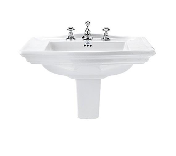 Imperial Westminster 685mm Large Basin With Semi Pedestal