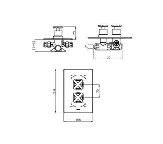 Technical drawing QS-V39233 / AB2206