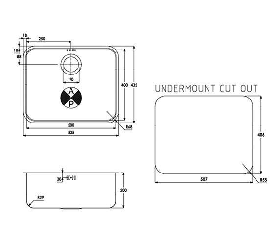 Technical drawing QS-V39266 / AW5015