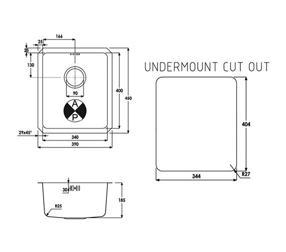 Technical drawing QS-V39273 / AW5002