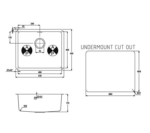 Technical drawing QS-V39274 / AW5003