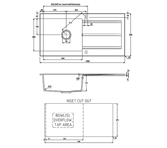 Technical drawing QS-V39285 / AW3007