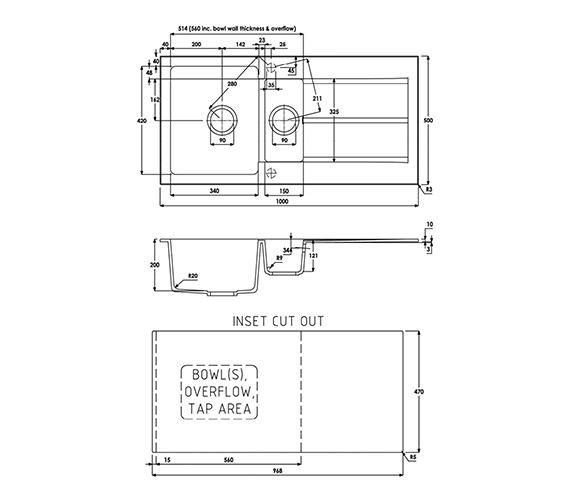 Technical drawing QS-V39286 / AW3006