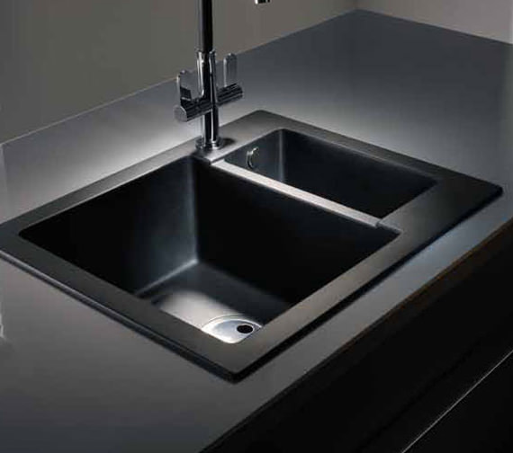 Abode Zero 1.5 Bowl Reversible Kitchen Sink - AW3005