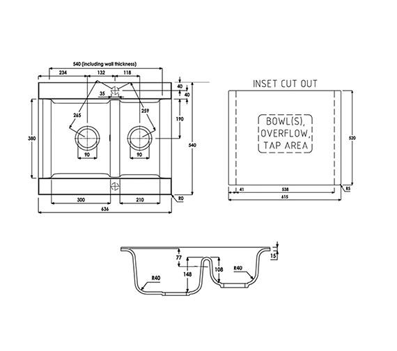 Technical drawing QS-V39289 / AW3003
