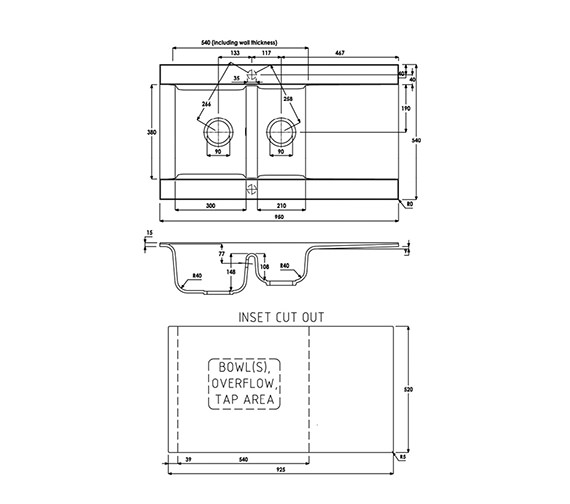 Technical drawing QS-V39290 / AW3002