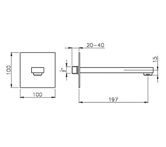 Technical drawing QS-V39304 / AB1244