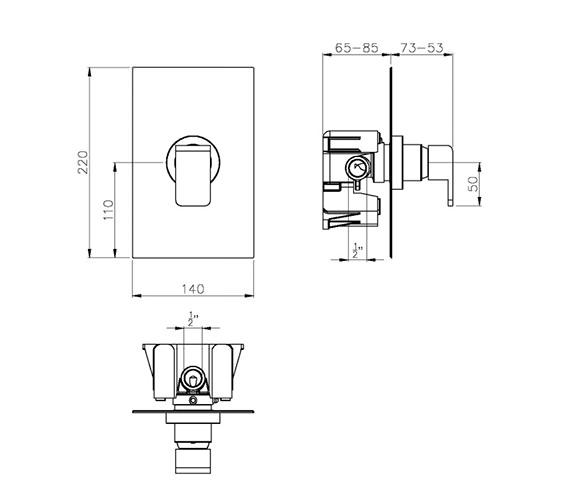 Technical drawing QS-V39311 / AB2212
