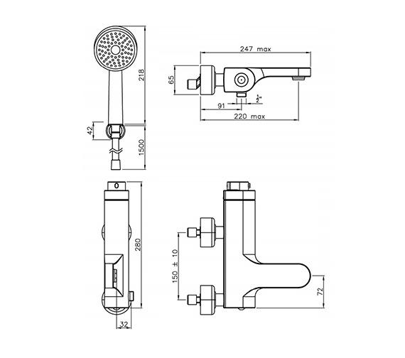 Technical drawing QS-V39314 / AB1004