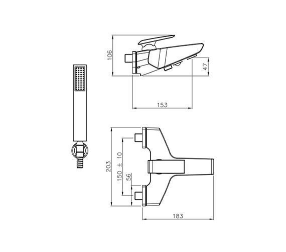 Technical drawing QS-V39325 / AB1034