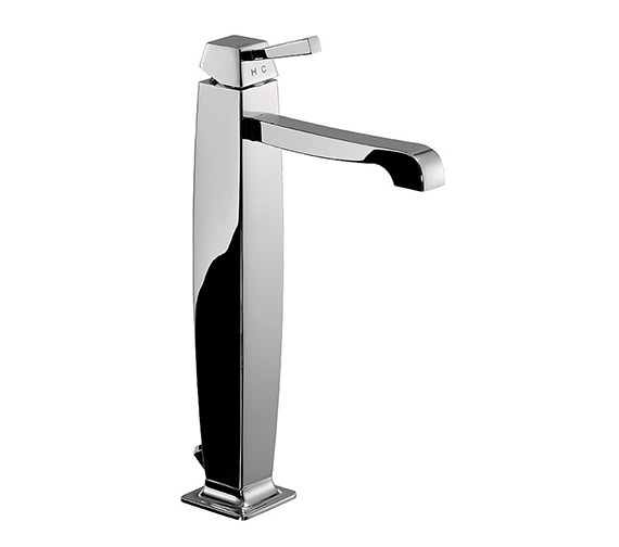 Abode Decadence Tall Single Lever Basin Mixer Tap With Pop-Up Waste