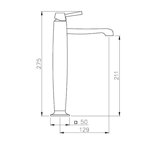 Technical drawing QS-V39335 / AB1302