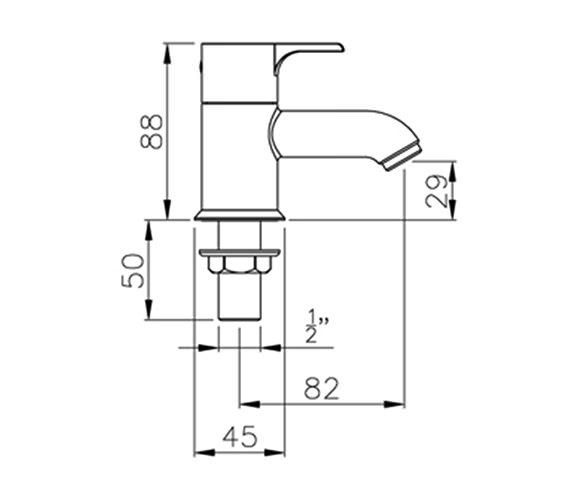 Technical drawing QS-V39345 / AB1151