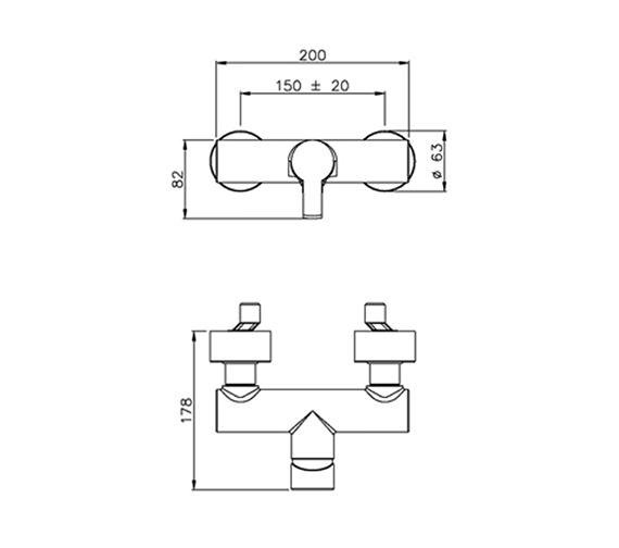 Technical drawing QS-V39366 / AB1164