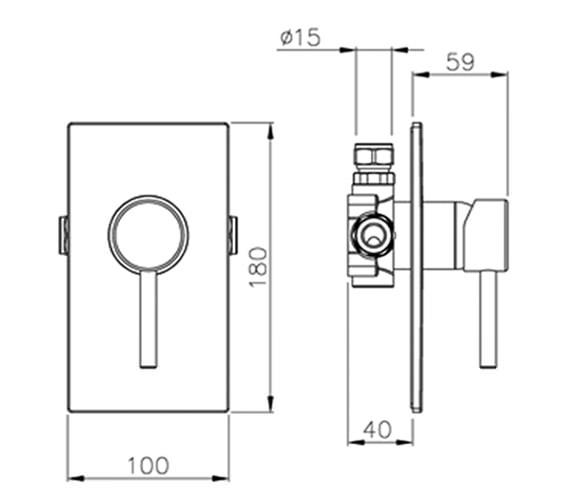 Technical drawing QS-V39389 / AB2210