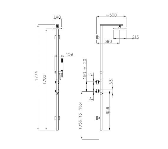 Technical drawing QS-V39390 / AB2500