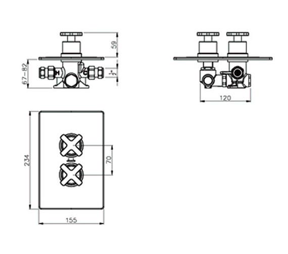 Technical drawing QS-V39401 / AB2218