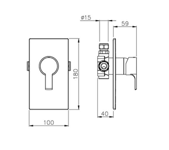 Technical drawing QS-V39408 / AB2207