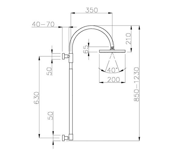Technical drawing QS-V39414 / AB2310