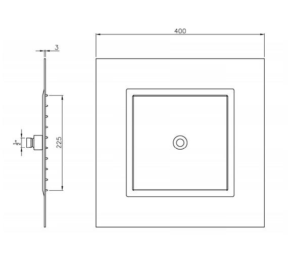 Technical drawing QS-V39418 / AB2430