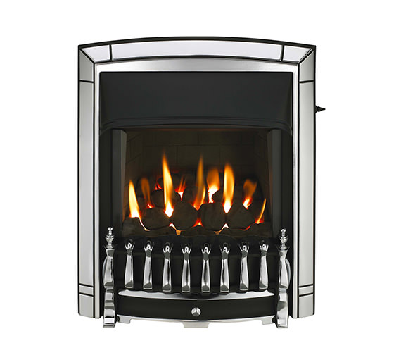 Valor Dream Slimline Homeflame Slide Control Inset Gas Fire Chrome