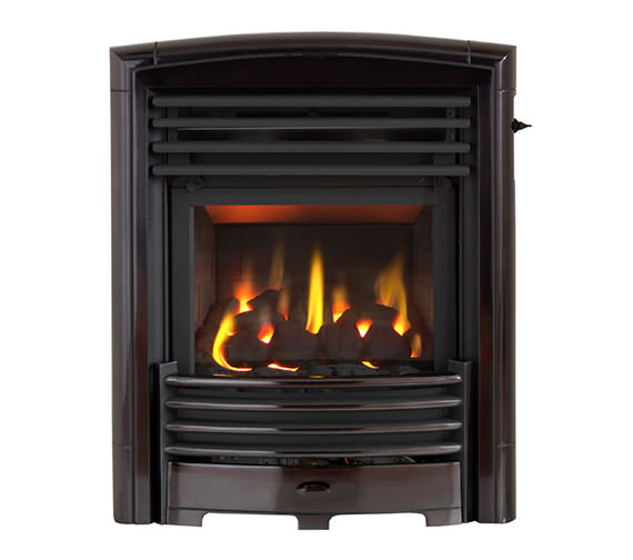 Valor Petrus Homeflame Slide Control Inset Gas Fire Black-Chrome