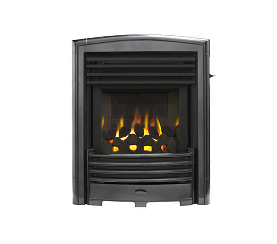 Valor Petrus Slimline Homeflame Inset Gas Fire Black-Chrome
