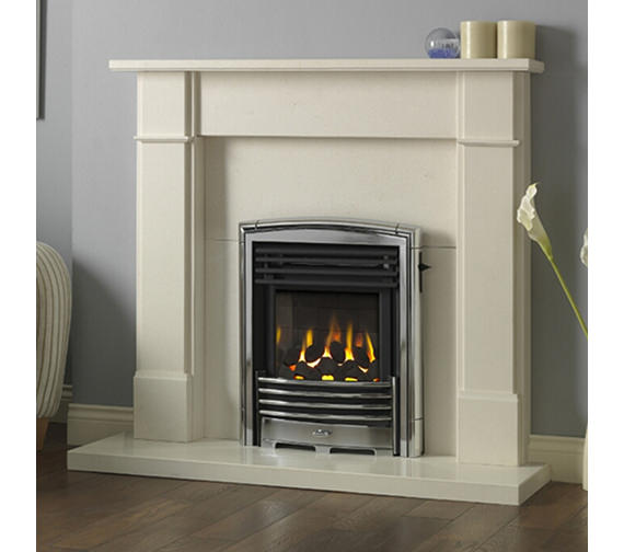 Alternate image of Valor Petrus Slimline Homeflame Inset Gas Fire Silver-Chrome - 0596341