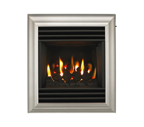 Valor Harmony Homeflame Slide Control Inset Gas Fire Silver