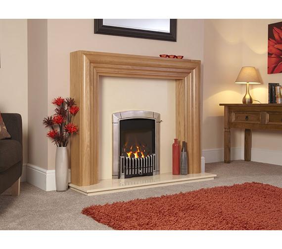 Caress Manual Control Contemporary HE Inset Gas Fire Chrome - FHEC3RMN
