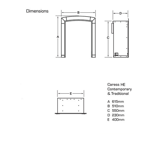 Technical drawing QS-V39715 / FHEC41SN