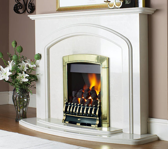 Flavel Caress Traditional Manual Control Inset Gas Fire Brass FICC11MN