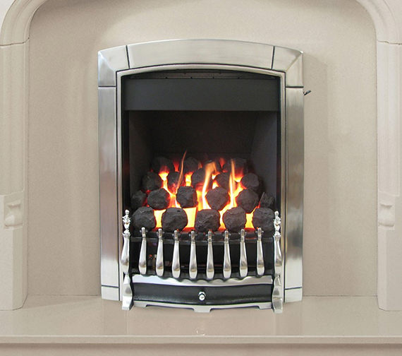Flavel Caress Traditional Slide Control Inset Gas Fire Chrome FICC6JSN