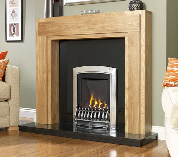Flavel Caress Manual Control Slimline Inset Gas Fire Silver