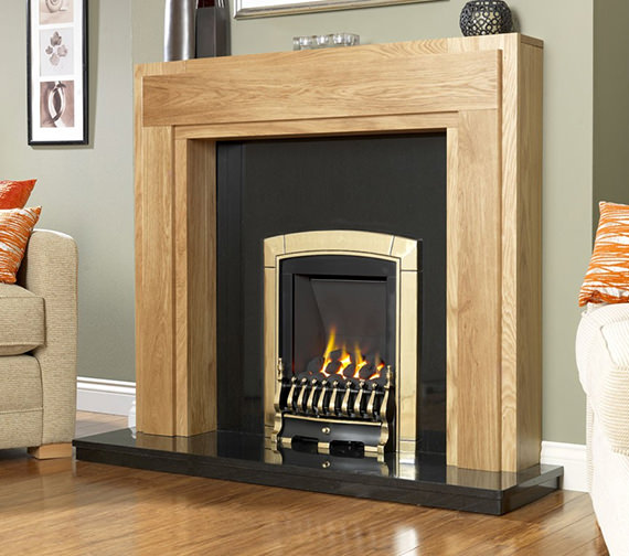 Flavel Caress Slide Control Slimline Inset Gas Fire Brass