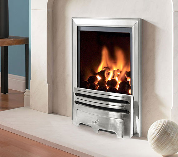 Flavel Kenilworth Manual Control Inset Gas Fire Silver