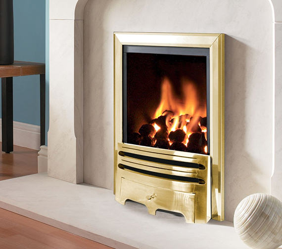 Flavel Kenilworth Manual Control Inset Gas Fire Brass