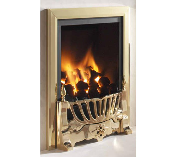 Additional image of Flavel Kenilworth Manual Control HE Inset Gas Fire Brass