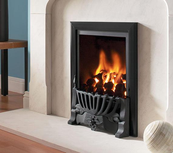 Flavel Kenilworth Manual Control Inset Gas Fire Black - FRDC26MN