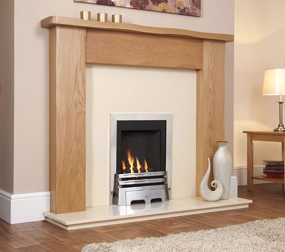 Flavel Windsor Manual Control Classic Inset Gas Fire Silver
