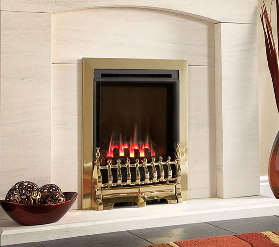 Flavel Windsor Manual Control Traditional HE Gas Fire Brass - FSHC11MN
