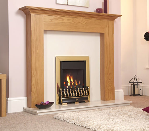 Flavel Stirling Manual Control Inset Gas Fire Brass - FSCC42SN