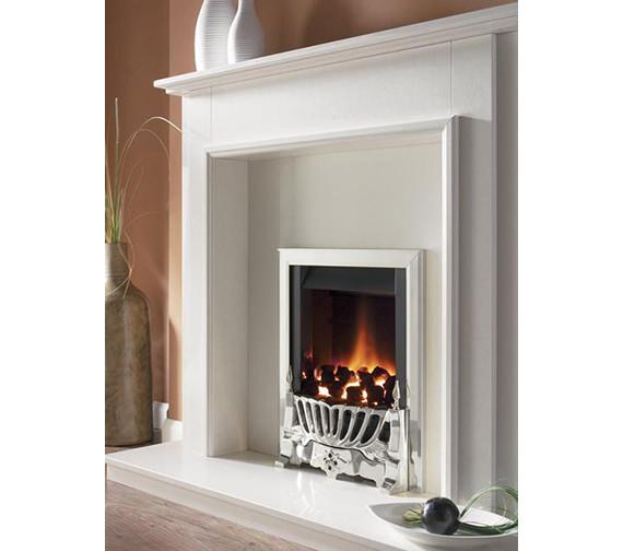 Flavel Warwick Manual Control Inset Gas Fire Silver - FIRC37MN