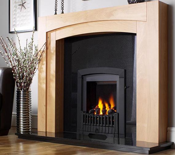 Flavel Melody Slimline Manual Control Inset Gas Fire Black - FDRN57G