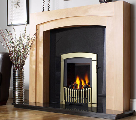 Flavel Melody Slimline Manual Control Inset Gas Fire Antique Brass-FDRN46G