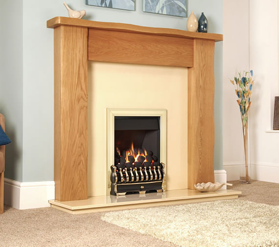 Flavel Richmond Slide Control Inset Gas Fire Brass - FICC42SN